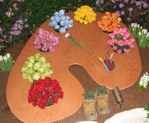 Theme Gardens for Kids-Painter's Pallet