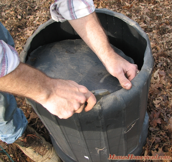 Cutting Trash Can for Potatoes
