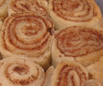 Pie Crust Cinnamon Rolls Ready to Eat