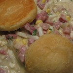 Mama's Ham Gravy with Biscuits