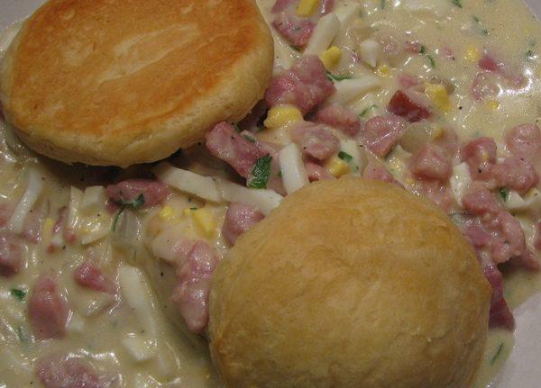 Ham Gravy on Biscuits