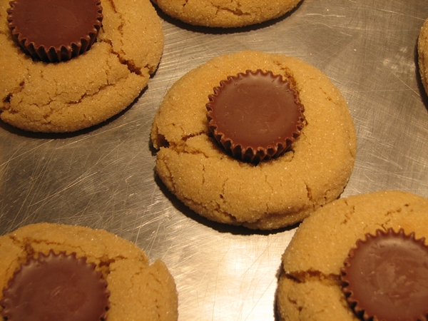 Peanut Butter Cookies with Reese Cups - Mama's Homestead