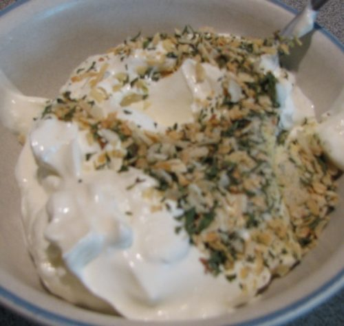 Ranch Dressing and Seasoning Mix on sour cream
