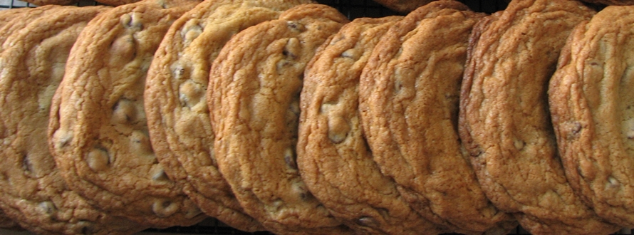 Chocolate Chip Cookies on Cooling Rack Featured 2