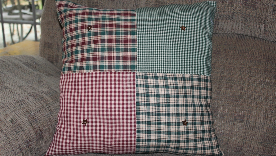 Beginning Sewing Class Patchwork Pillow Featured