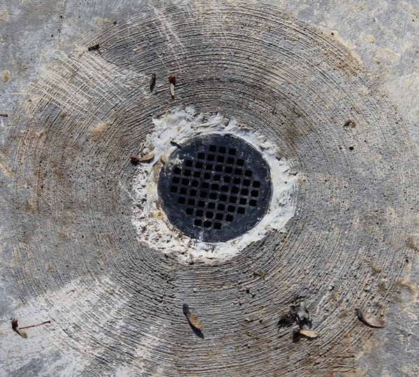 Timber Frame Barn Drain Hole