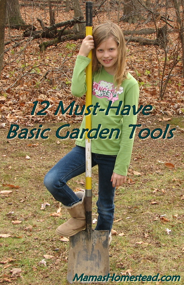 12 must have basic garden tools mama 39 s homestead for Gardening tools must have