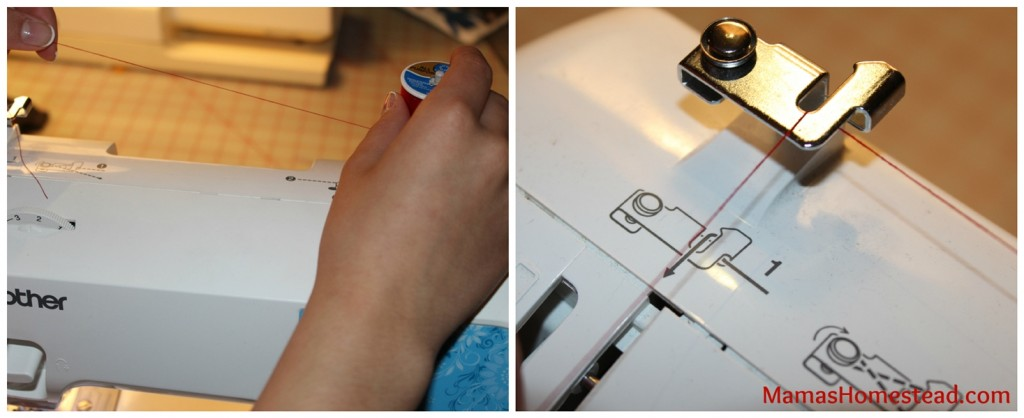 Threading sewing machine 1