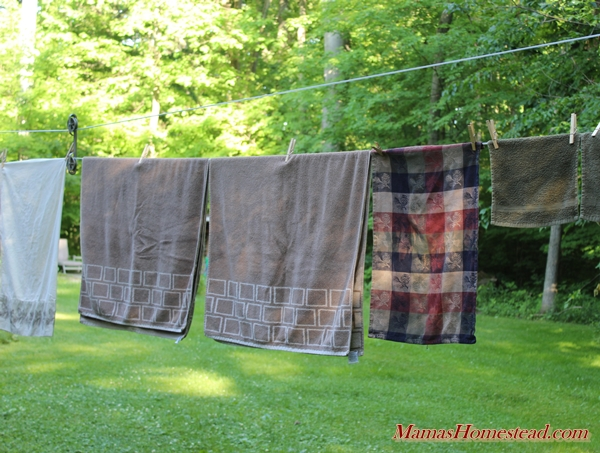 Clothesline Towels, Washcloths, and Pillowcases