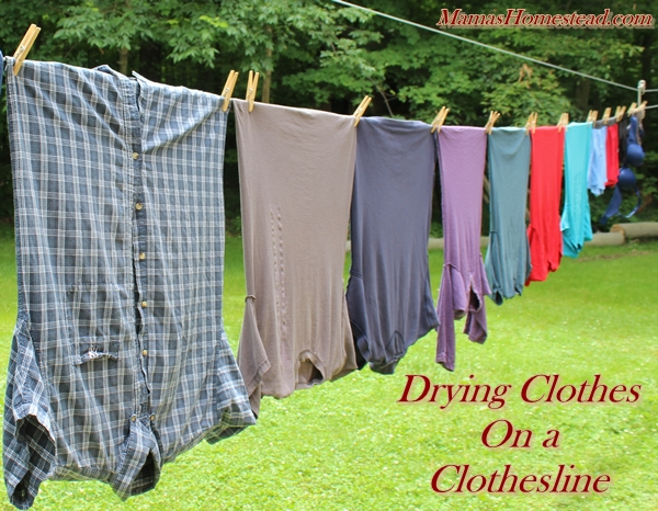 Clothes Drying On A Clothesline ~ Drying clothes on a clothesline mama s homestead