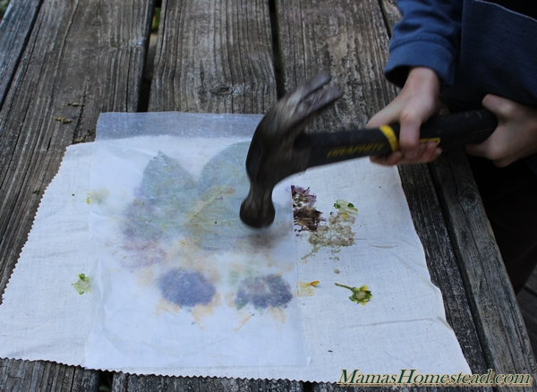 Nature Fabric Prints Hammering