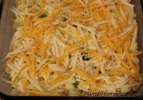 Cheesy Zucchini Bake before baking