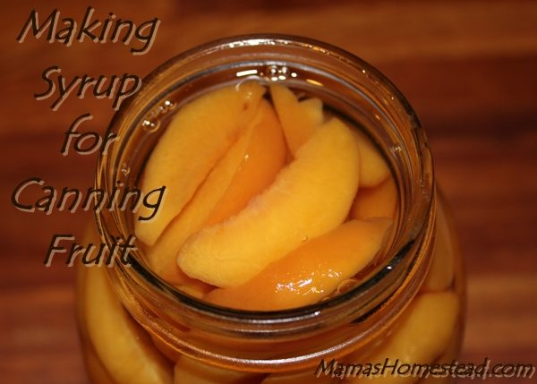 Making Syrup for Canning Fruit