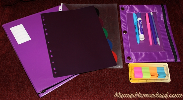 Home Management Binder Supplies 2
