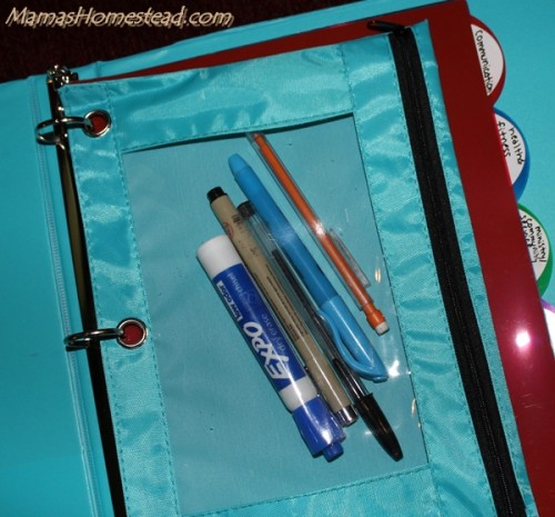 Home Management Binder Supplies