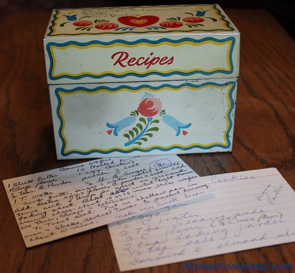 Recipe Box for Recipe Binder