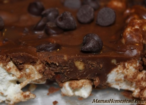 Rocky Road Bars Cut