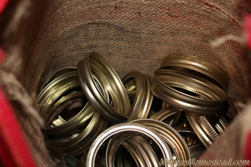Storing Canning Rings