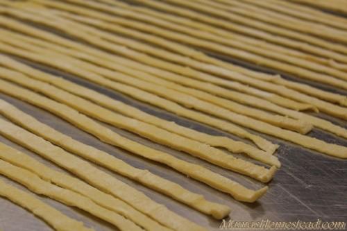 Cut Homemade Noodles