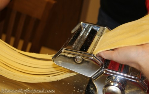 Noodles from pasta machine