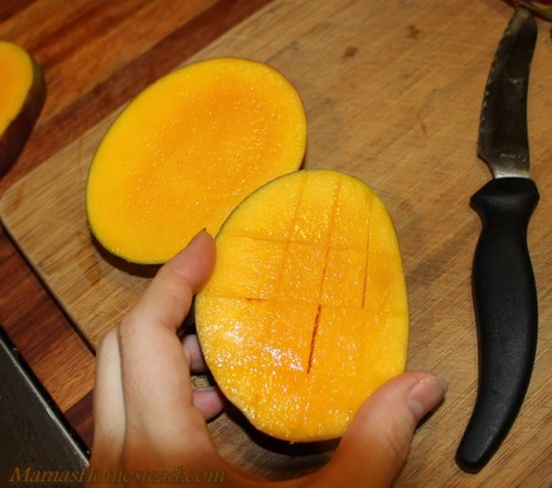 Cut Inside Mango