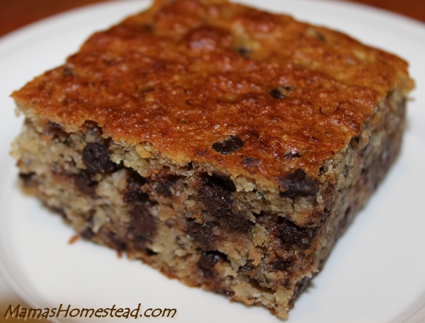 Banana Coconut Chocolate Chip Snack Cake